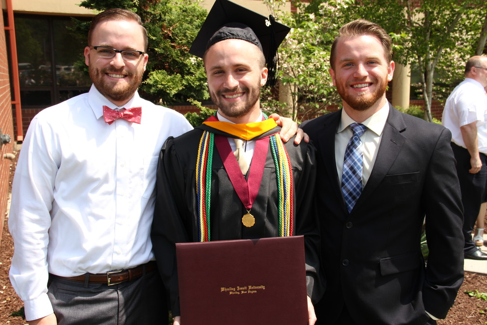 Wheeling Jesuit University Graduates Joe Probert '11, Stephen Probert '16 and Michael Probert '14 (Photo by Wheeling Jesuit University)