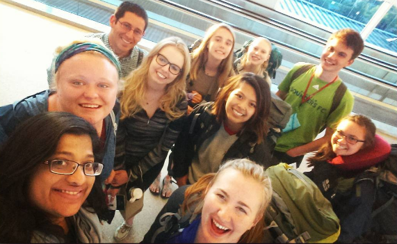 Seattle University Delegation Departing for WYD & Magis (Photo by Seattle University)