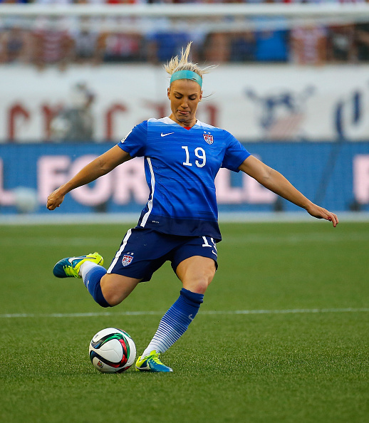 Julie Johnston (Santa Clara University '14) will play soccer for Team USA (Photo: Denis Concordel)