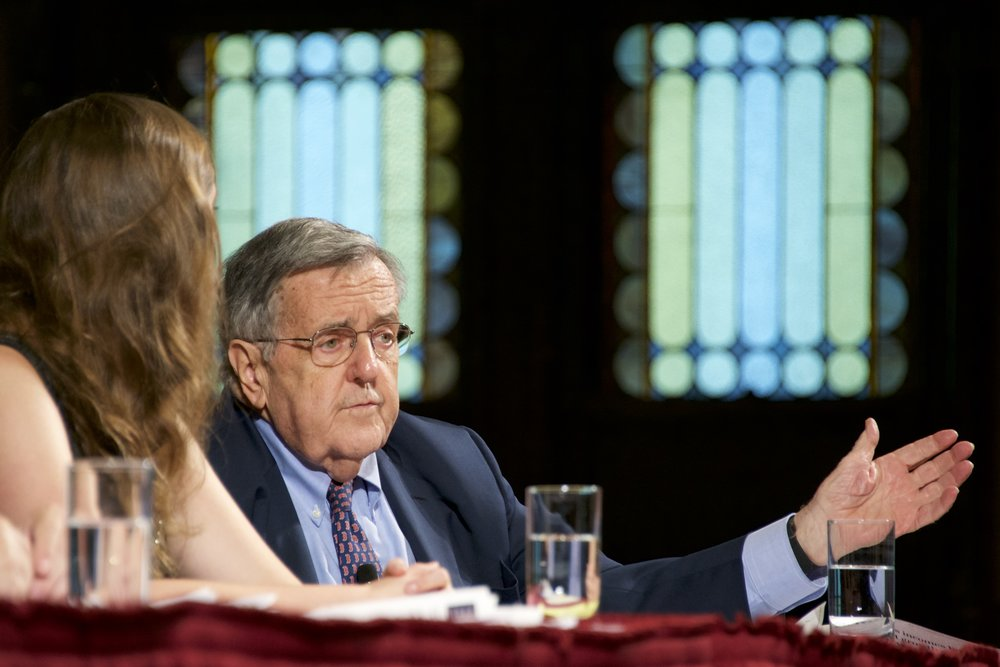 Mark Shields (PHOTO BY GEORGETOWN UNIVERSITY)