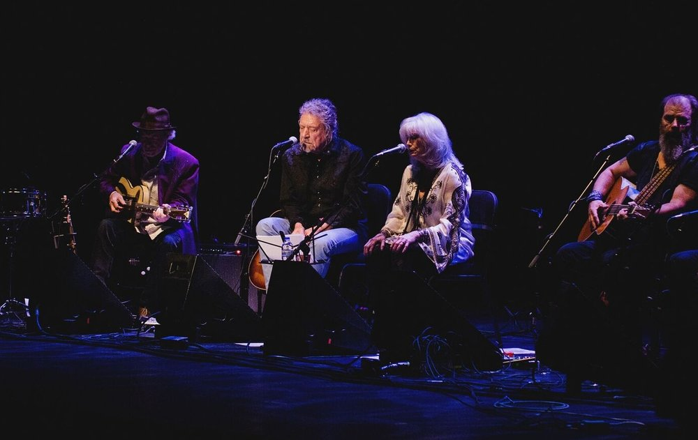 Buddy Miller, Robert Plant, Emmylou Harris, Steve Earle (Photo by Jesse Lee, Marquette University)