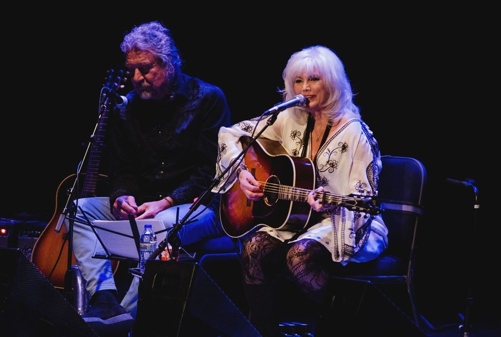 Robert Plant, Emmylou Harris (Photo by Jesse Lee, Marquette University)