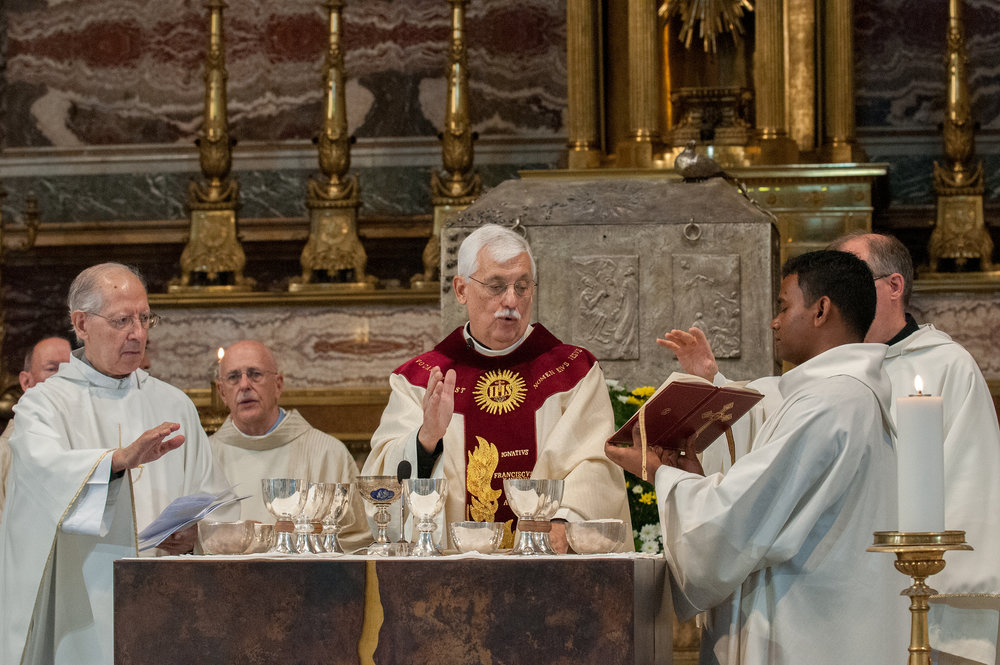 Rev. Arturo Sosa, S.J. Presides During a Mass of Thanksgiving at the Church of the Gesu in Rome (Photo by GC36)