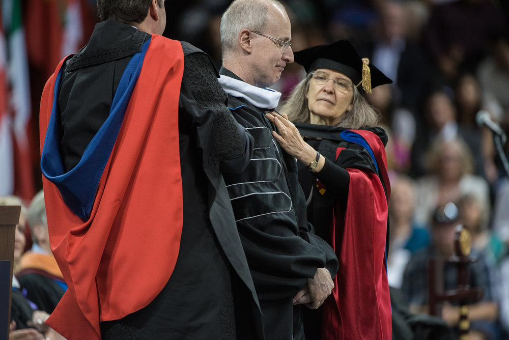 REV. JAMES MARTIN, S.J. RECEIVING AN HONORARY DEGREE FROM GONZAGA UNIVERSITY IN 2016 (PHOTO BY GONZAGA UNIVERSITY)