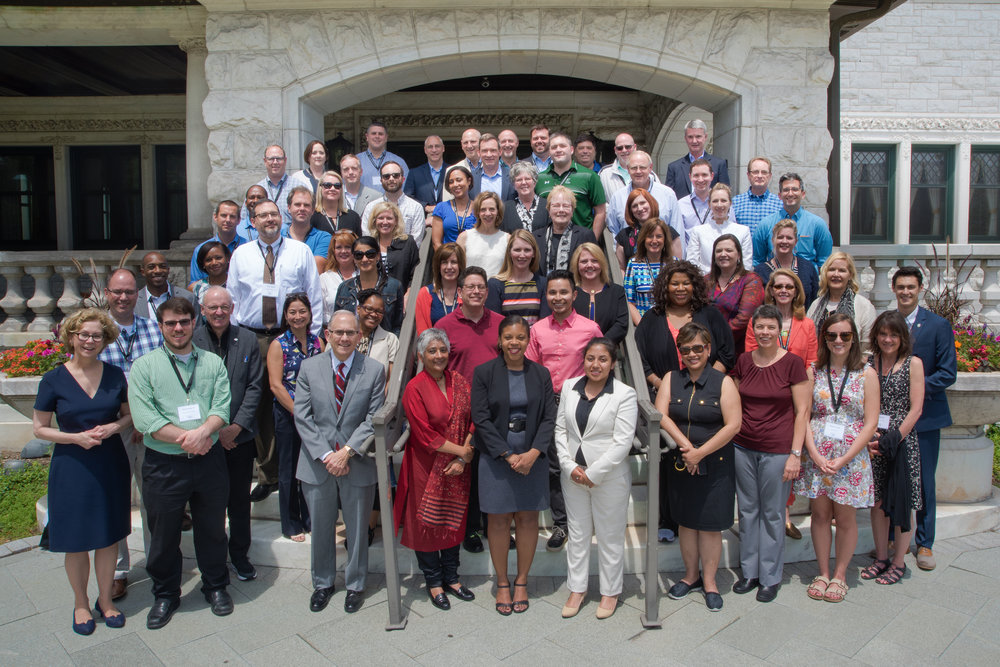 Participants in the 2017 Jesuit leadership Seminar at Loyola University Chicago (Photo by Glenn Kaupert)