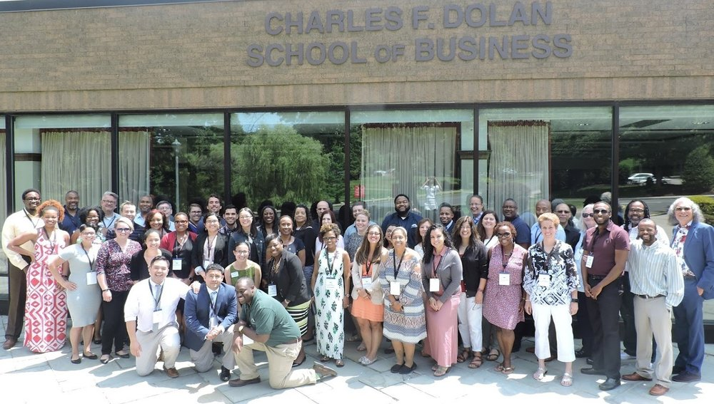 Participants at the 2017 AJCU Conference on Diversity and Equity at Fairfield University (Photo courtesy of DJ Todd, Marquette University)