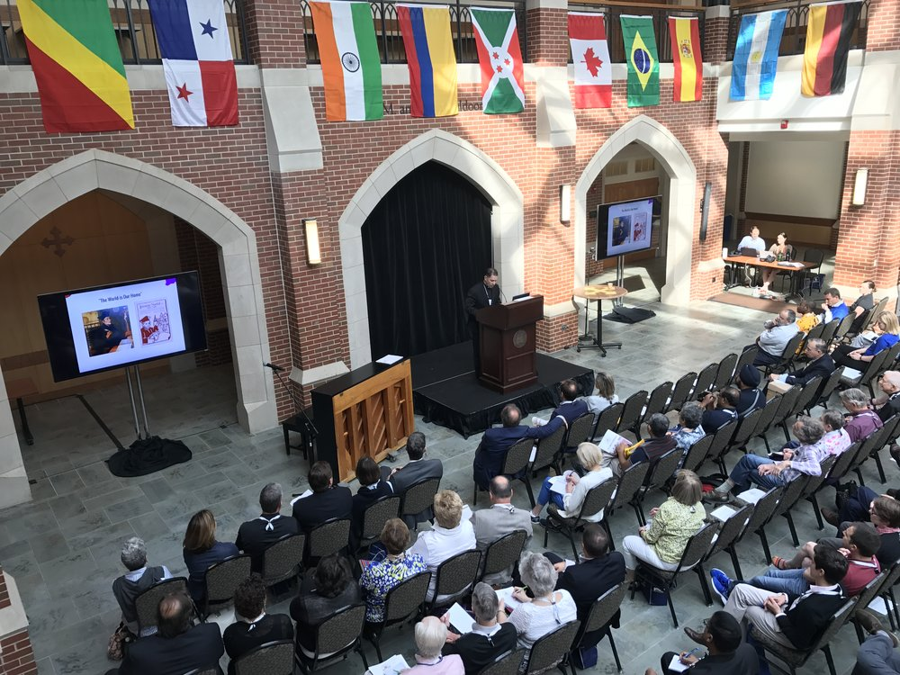 Rev. Timothy Kesicki, S.J., president of the JEsuit Conference of Canada and the United States, addressed guests at WUJA 2017 (Photo by AJCU)