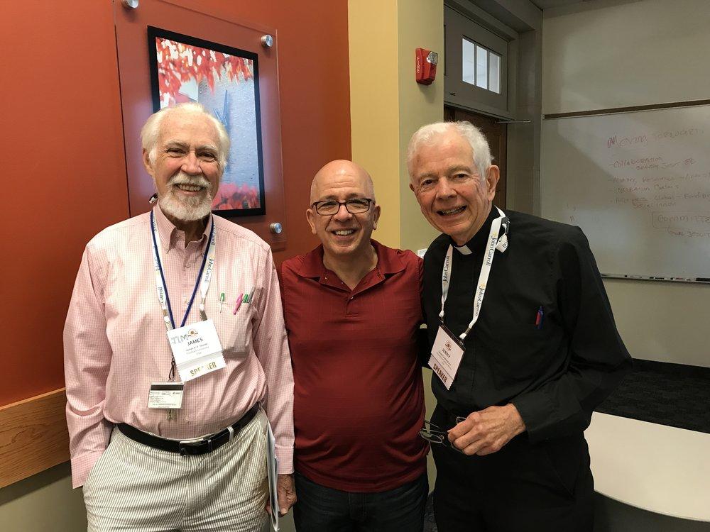 James a.F. Stoner (Fordham University), Robert A.Giacalone (John Carroll University), Rev. Gerald Cavanagh, S.J. (University of Detroit Mercy) (Photo by AJCU)