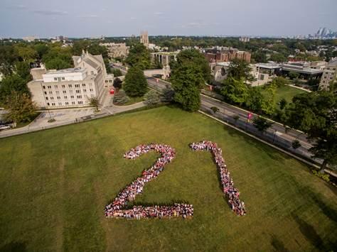 The class of 2021 at Saint Joseph's University (Philadelphia, PA)