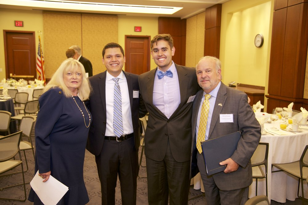 Cyndy Littlefield (AJCU), Luis Gonzalez (Georgetown University '20), Emilio R. Joubert (Georgetown University '19), Scott Fleming (Georgetown University)