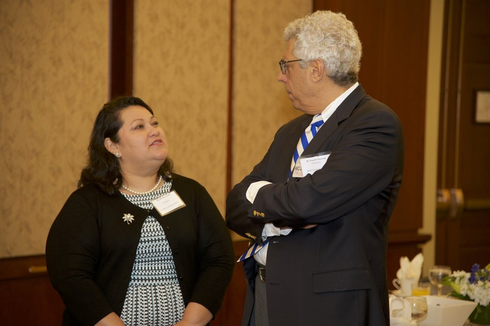 Mirtha Peralta (St. John's College in Belize), Dr. Fred Pestello (Saint Louis University)