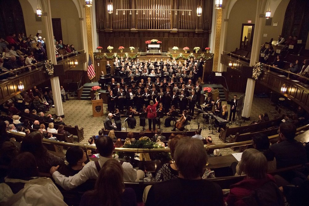 The University of Scranton Singers presented the 50th annual Noel Night on Saturday, Dec. 2nd in Scranton, PA (photo by The University of Scranton)