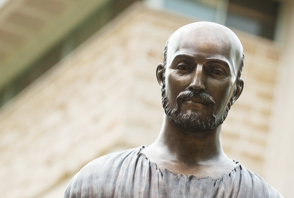 Photo of St. Ignatius Loyola Statue courtesy of Rockhurst University