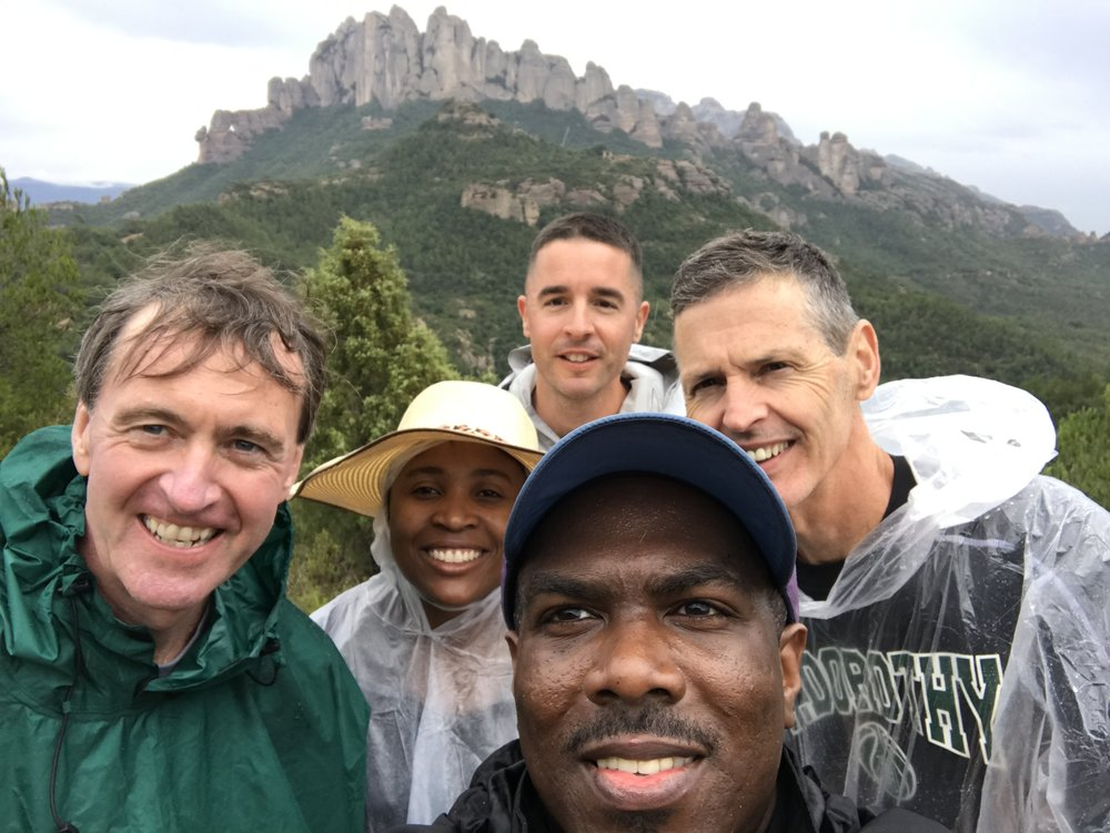 Chris Lowney (left) and participants on a recent Ignatian camino (photo by Fordham University student)