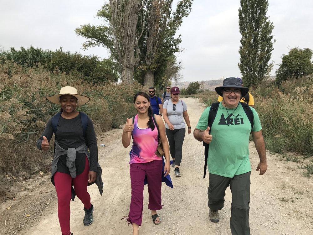 Fordham University students on a recent Ignatian Camino trek (courtesy of Chris Lowney)