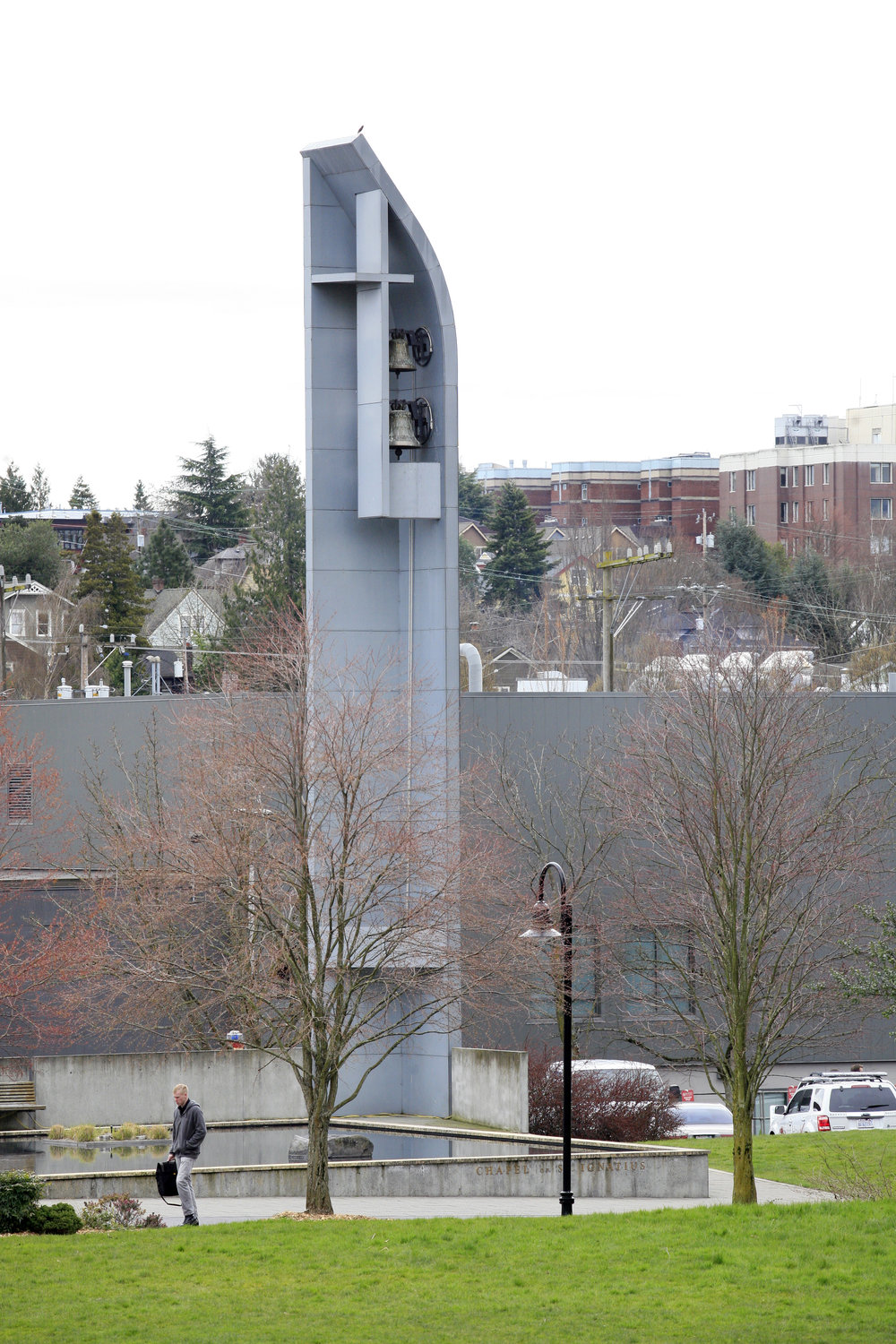 Bell tower at the Chapel of St. Ignatius (photo courtesy of Seattle University)