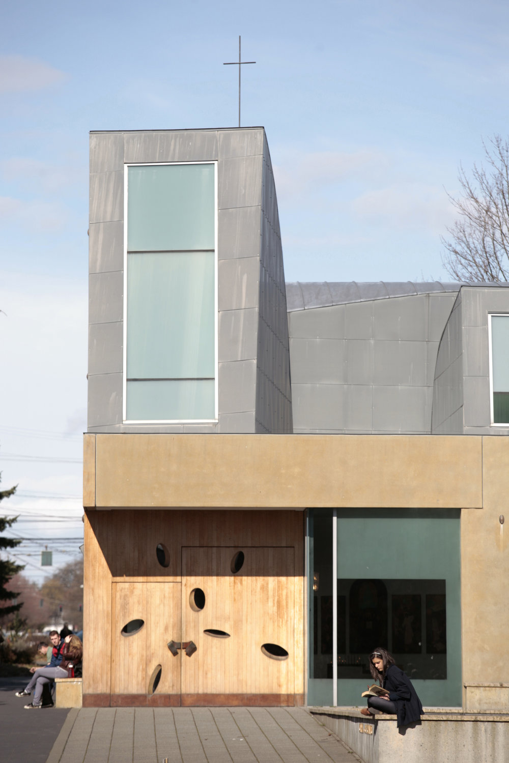 Exterior of the Chapel of St. Ignatius (photo courtesy of Seattle University)