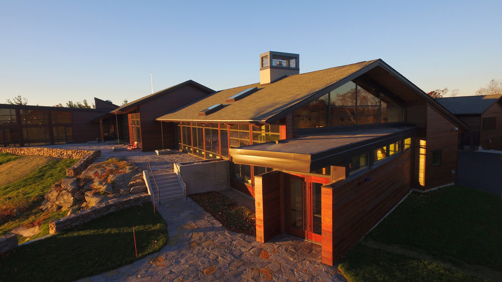 Exterior of the Contemplative Center (photo by Tom Retigg for the College of the Holy Cross)