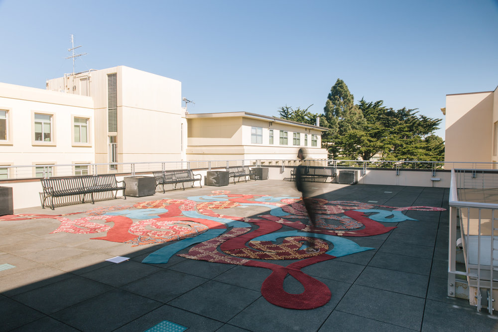 'Portale' Labyrinth Art Installation (photo courtesy of University of San Francisco)