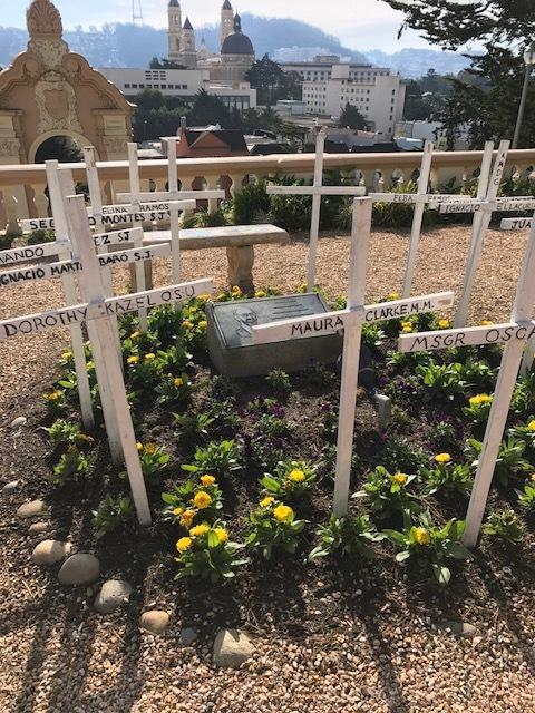 Lone Mountain crosses dedicated in memory of martyrs in El Salvador (photo courtesy of University of San Francisco)
