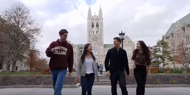 Boston College students featured in AJCU's 2018 Jesuit Educated Video (AJCU)