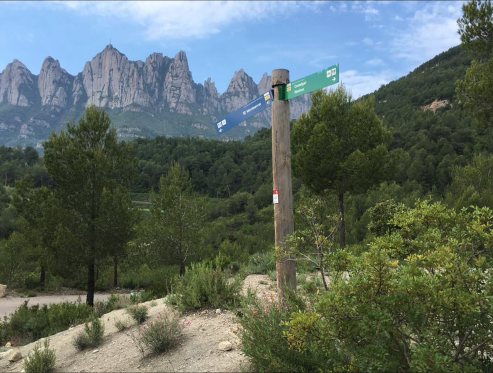 A view from hiking in Montserrat, Spain