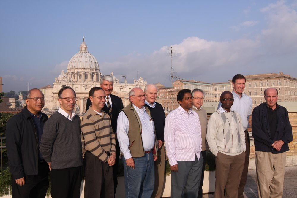 Fr. Currie with members of the International Committee on Jesuit Higher Education in Rome