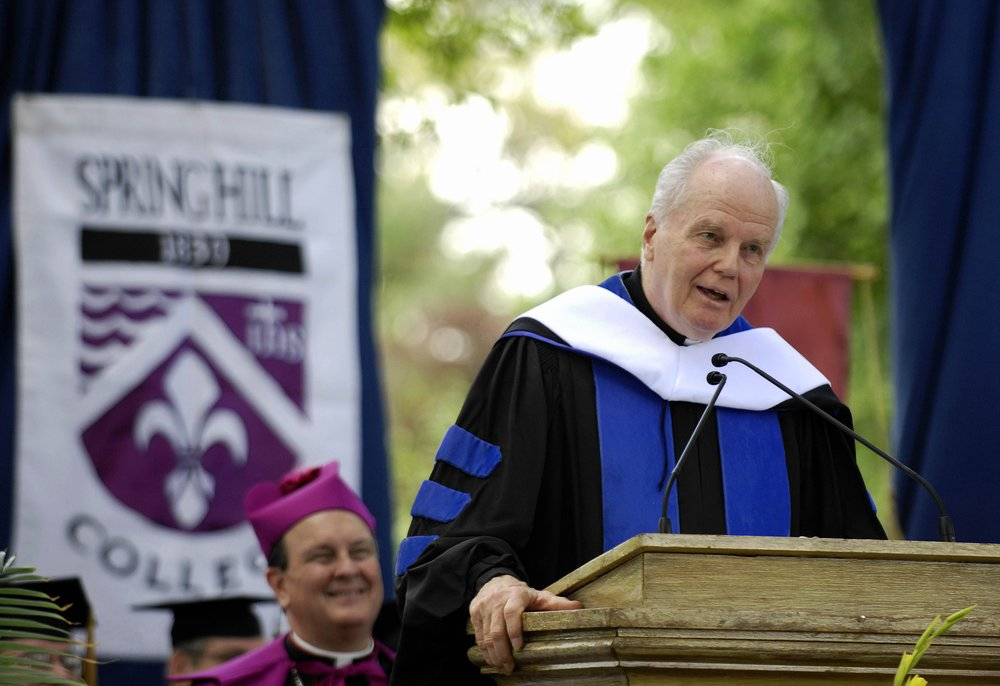 Fr. Currie received an honorary degree from Spring Hill College in spring 2009