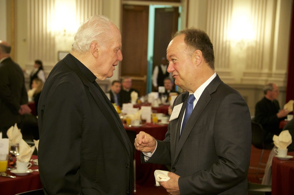 Fr. Currie with Dr. John J. DeGioia (president of Georgetown University) at the AJCU Congressional Breakfast in Fall 2015