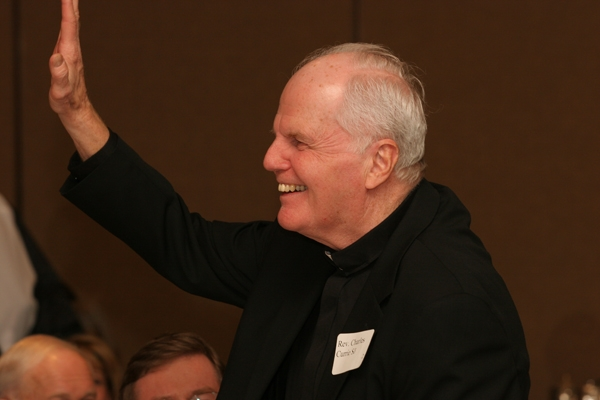 Fr. Currie was honored for his fourteen years of service at AJCU during a breakfast on Capitol Hill in spring 2011