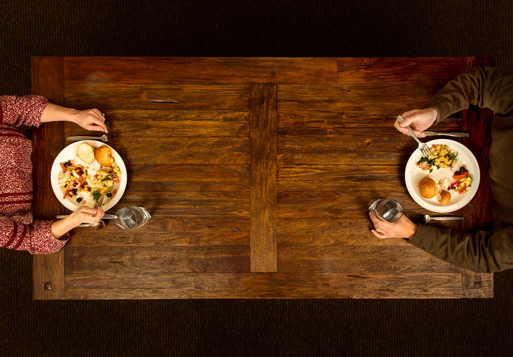 Sharing a meal together (Photo by Gonzaga University)