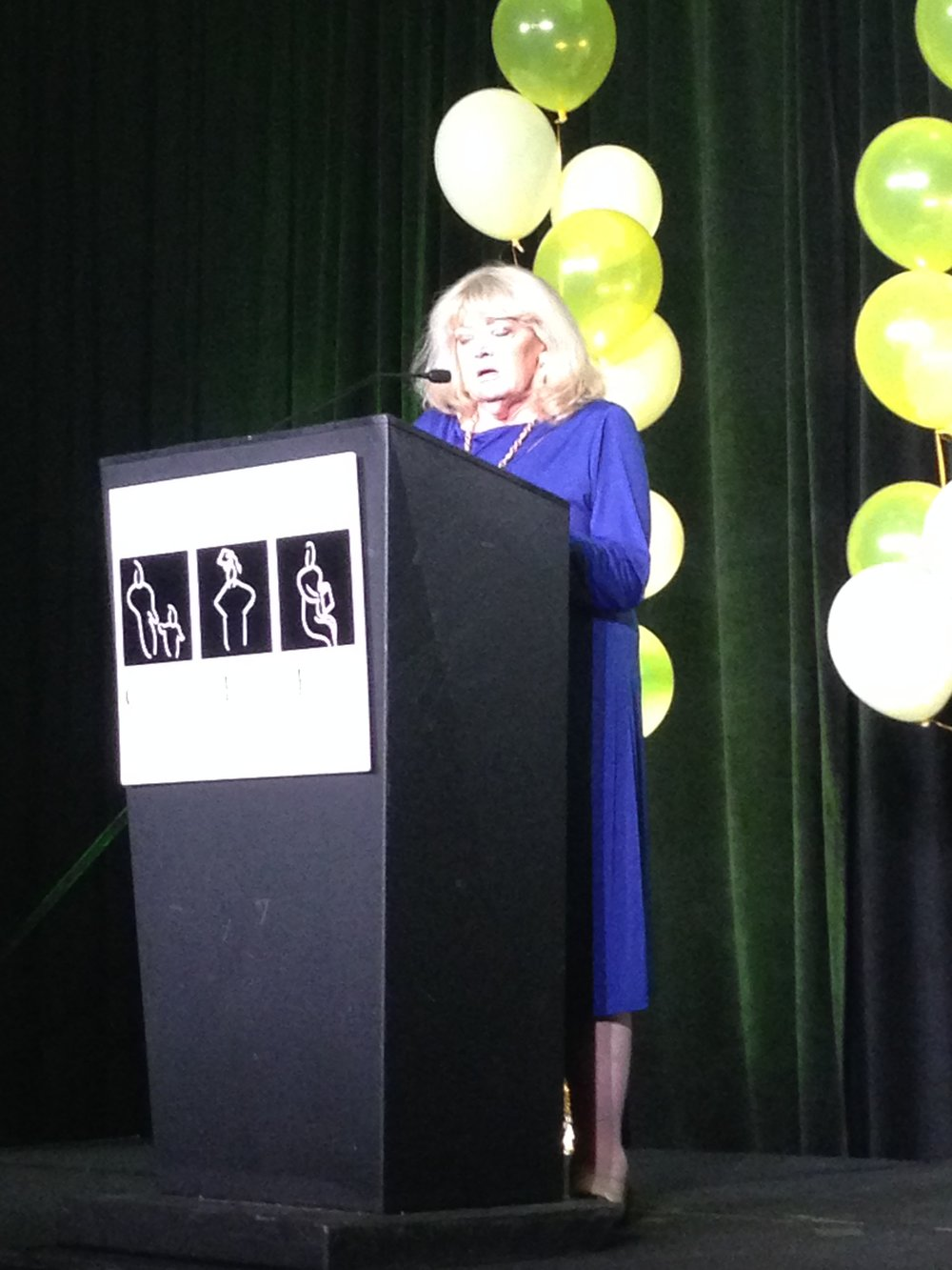 Cyndy presenting an award during the 2015 Committee for Education Funding (CEF) gala