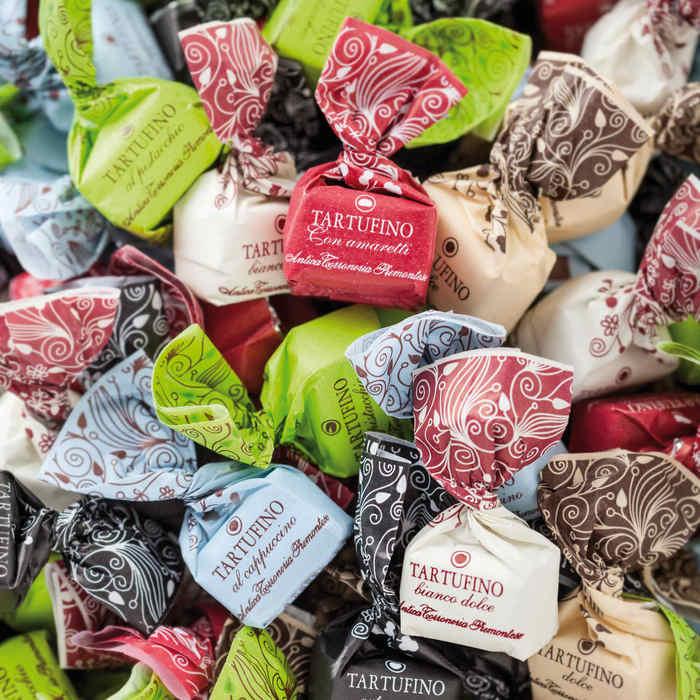šokoladiniai triufeliai iš pjemonto -