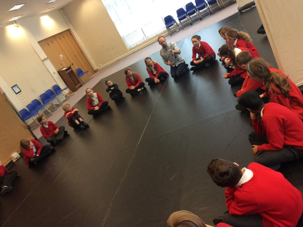 A quiet drama workshop...
