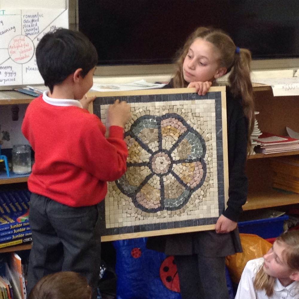Oliver made a brilliant mosaic.