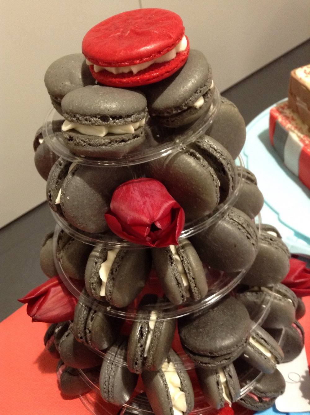 Amazing Macaroon Tower!  Miss Johnson moved us to sugary tears with this beautifully crafted entry in the parent/teacher category.