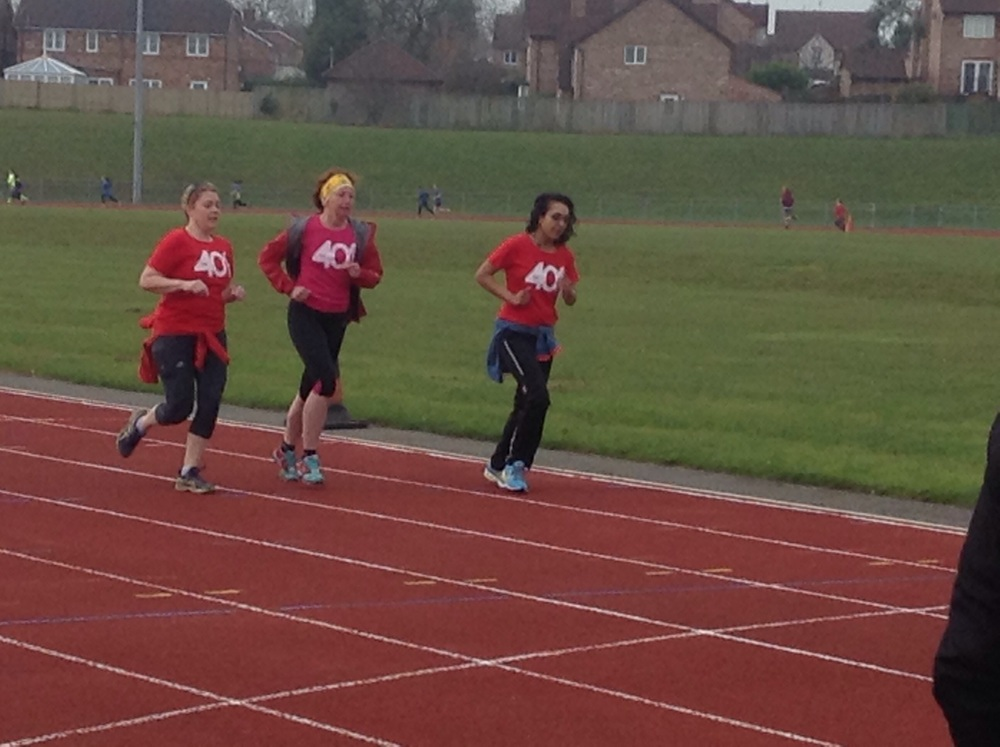 Mrs Morgan and Mrs Smith trying to keep up with the children!!!