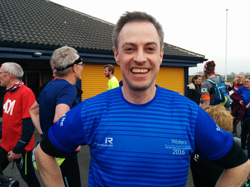 Mr Dykins looking fresh faced after finishing his first marathon. Well done!