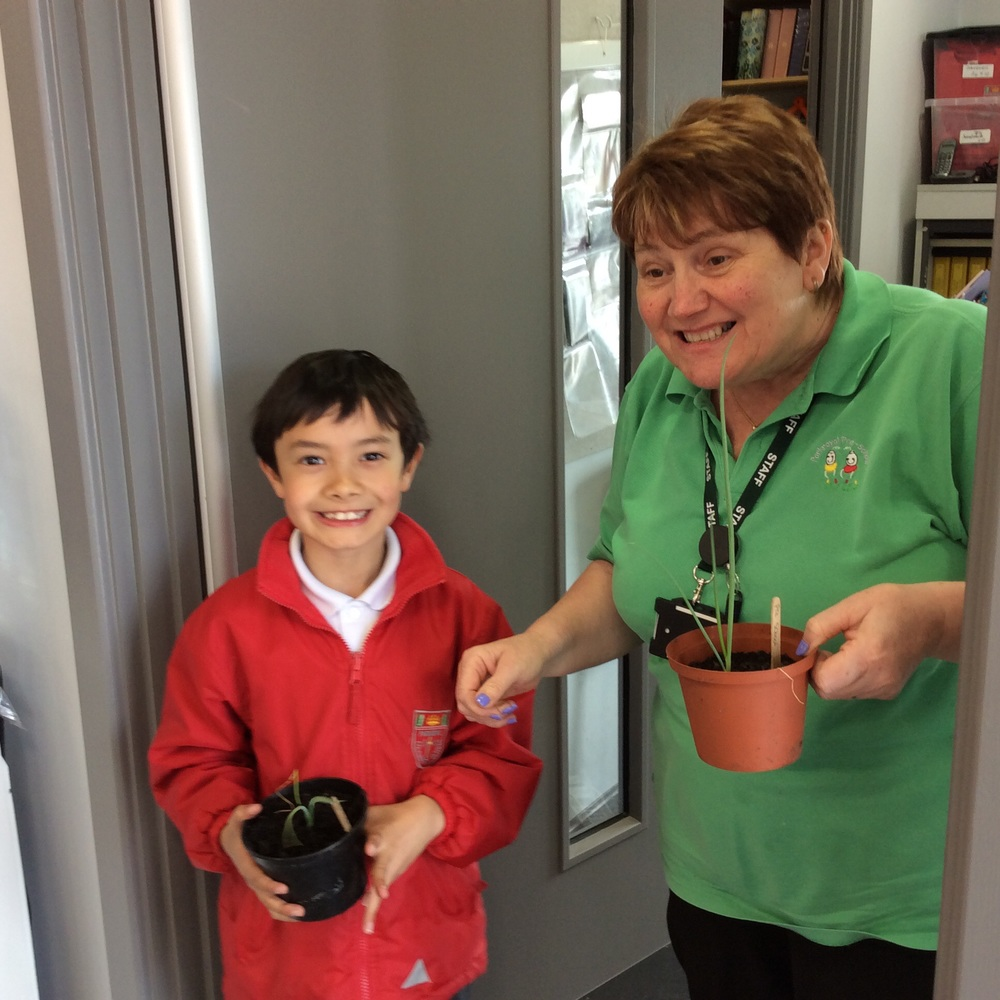 I suspect Mrs Scott will pass responsibility on to the pre-school gardener Lisa!