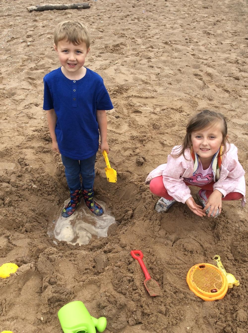We dug so deep we found water!