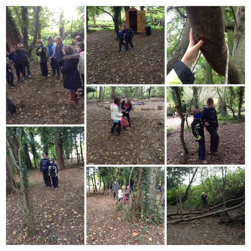 "Blindfolded we worked as a team to find our way around the trees.  ""I was scared at first but I did it in the end"""