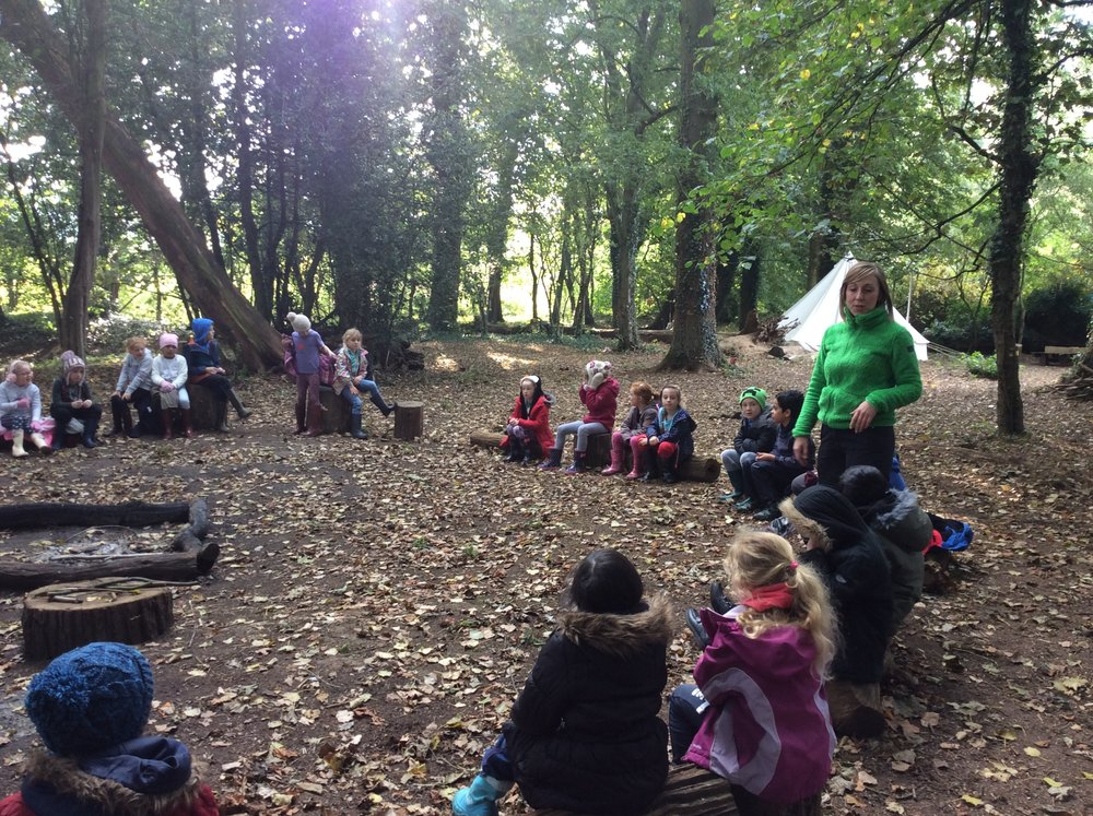 Kirsty and Shereen tell the children about the rules of the forest...