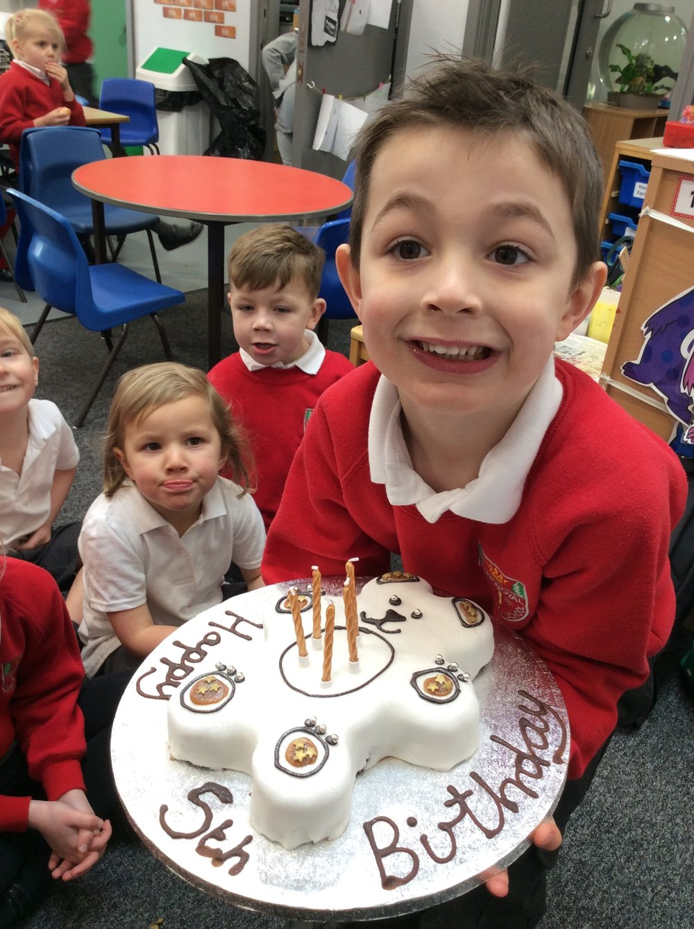 A birthday cake for Golden Bear!