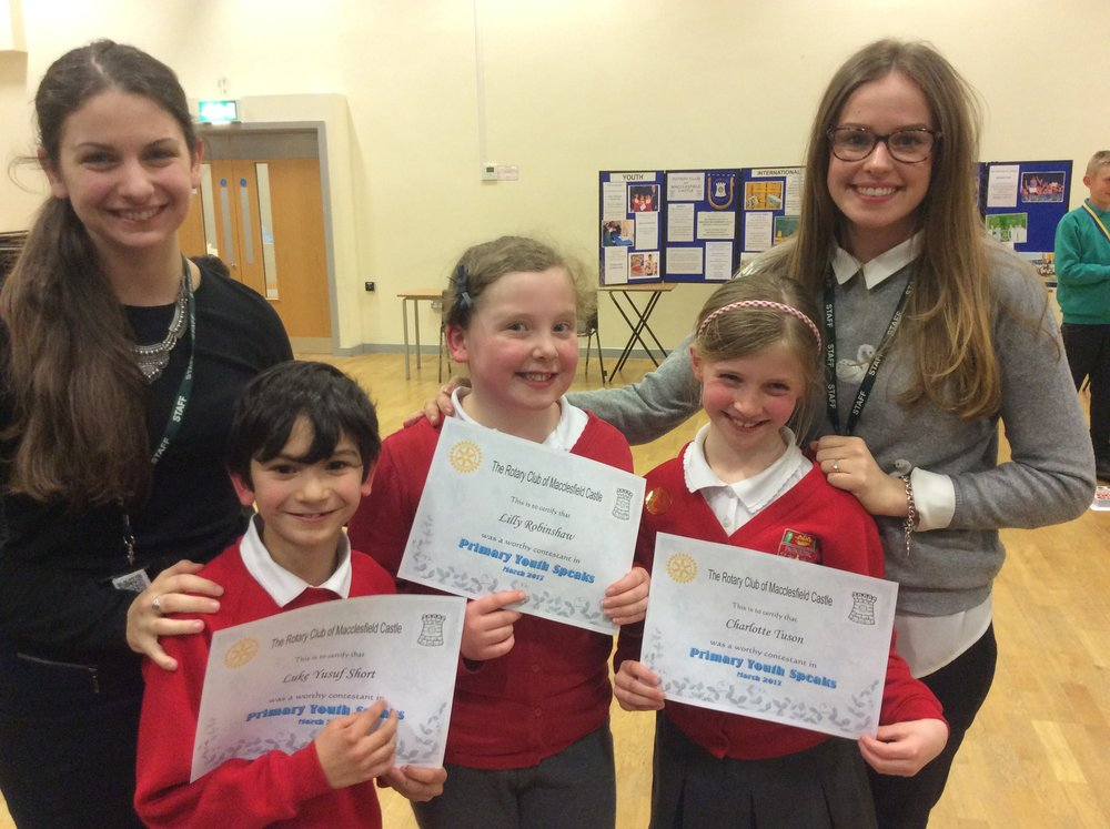 Miss Carruthers, Luke, Lily, Charlotte and Miss Williams.
