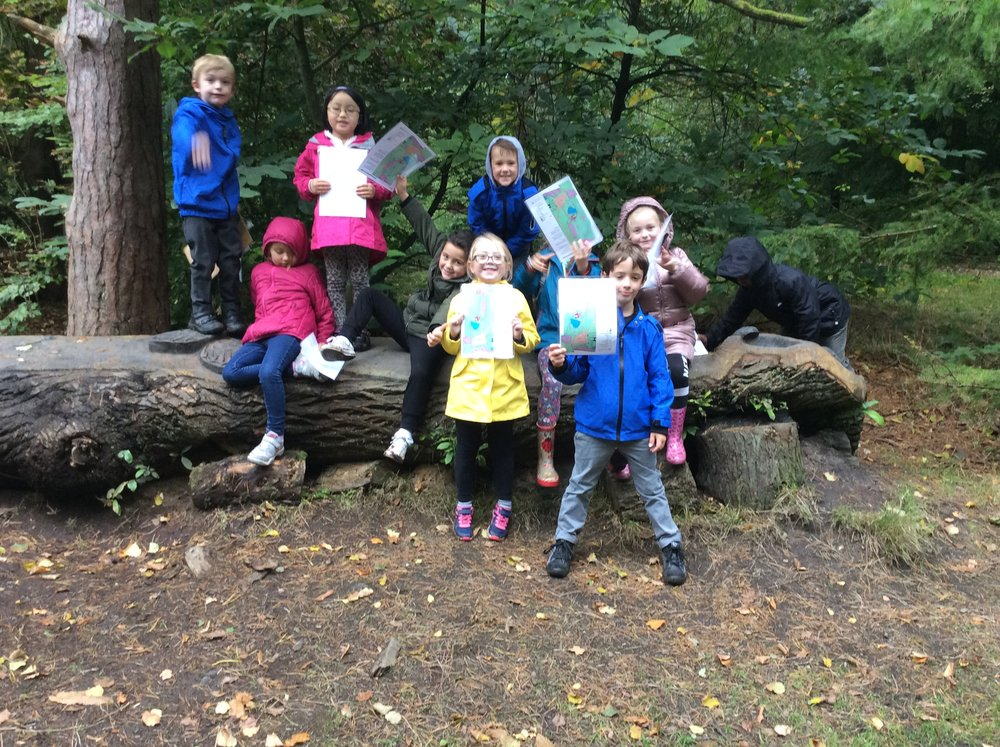 The rain couldn't dampen the enthusiasm in the map task...