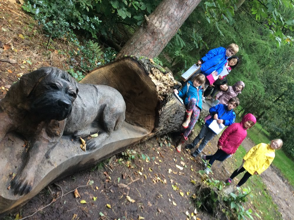 ...and we loved looking at the carving placed around the paths.