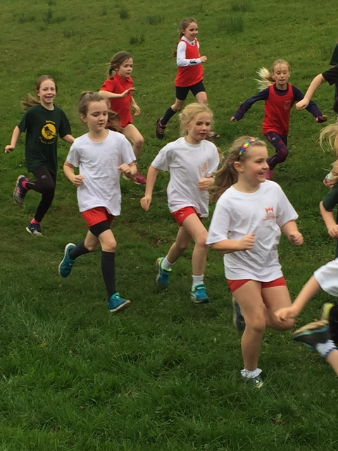 Year 3/4 girls battling it out