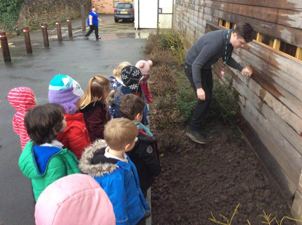 Mr Robinson treading carefully!