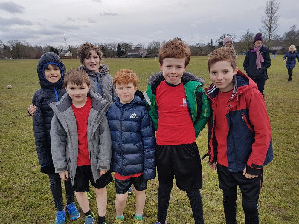 Y5/6 boys cross country team