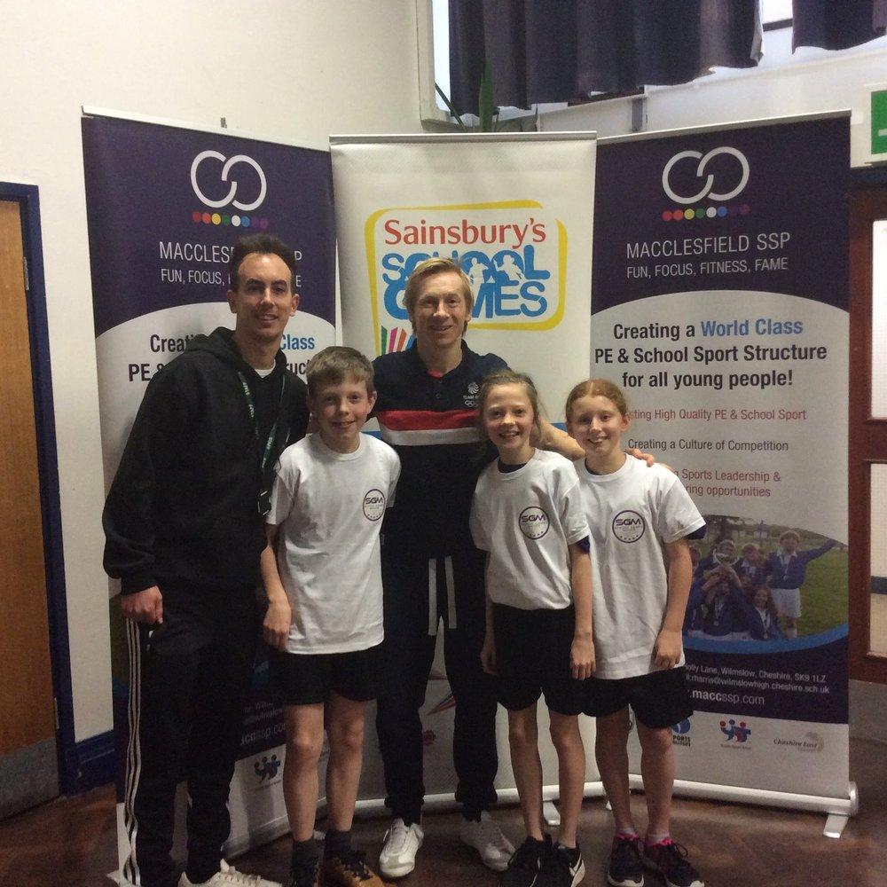 Sports ambassadors meeting Craig Heap